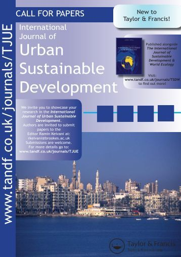 Sustainable Development - Taylor & Francis