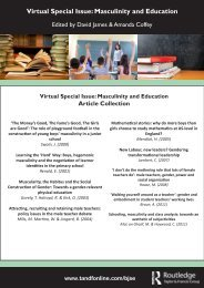 Virtual Special Issue: Masculinity and Education
