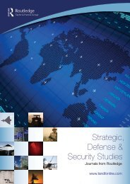 Strategic, Defense & Security Studies - Taylor & Francis