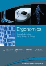 Ergonomics journals catalogue - Taylor & Francis