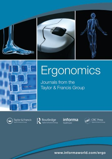 Ergonomics journals catalogue - Taylor & Francis