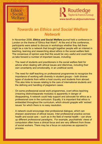 Ethics and Social Welfare Network.pmd