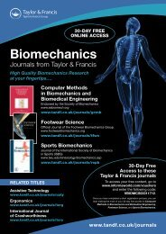 Biomechanics - Taylor & Francis