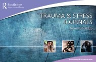 TRAUMA & STRESS JoURnAlS - Taylor & Francis
