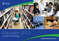 Education Journals Catalogue - Taylor & Francis