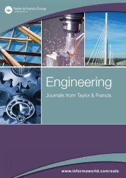 Engineering Journals Catalogue - Taylor & Francis