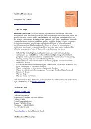 Nutritional Neuroscience Instructions for Authors 1 ... - Taylor & Francis