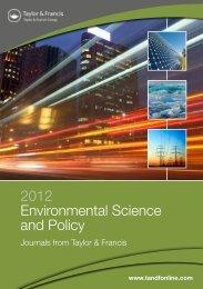 2012 Environmental Science and Policy - Taylor & Francis