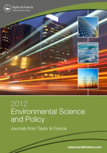 2012 Environmental Science and Policy - Taylor & Francis