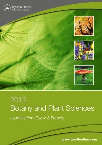 2012 Botany and Plant Sciences - Taylor & Francis