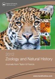 2012 Zoology and Natural History - Taylor & Francis