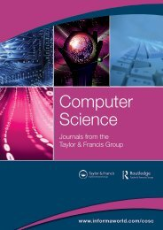 Computer Science Journals Catalogue - Taylor & Francis