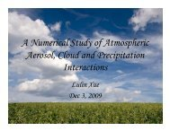 A Numerical Study of Atmospheric Aerosol, Cloud and ... - ASP