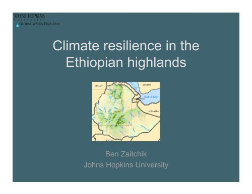 Climate resilience in the Ethiopian highlands
