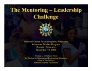 The Mentoring – Leadership Challenge - Advanced Study Program