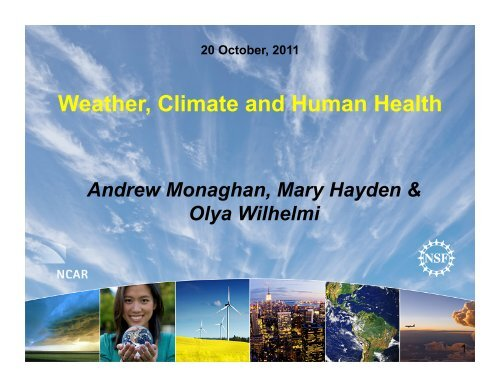 Weather, Climate and Human Health