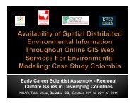 Availability of spatial distributed environmental information ...