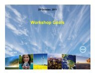 Workshop Goals - Advanced Study Program