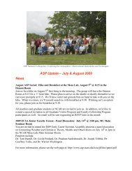 ASP Update – July & August 2009 News