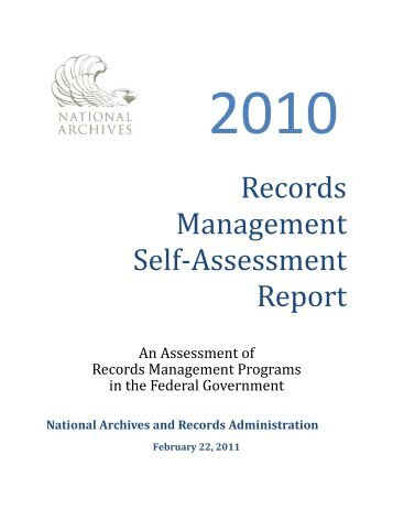 Records Management Self-Assessment Report - National Archives ...