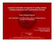 A physics ensemble of regional air quality-climate change ...