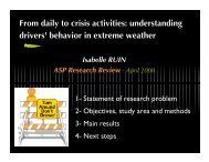 From daily to crisis activities: understanding drivers' behavior in ...