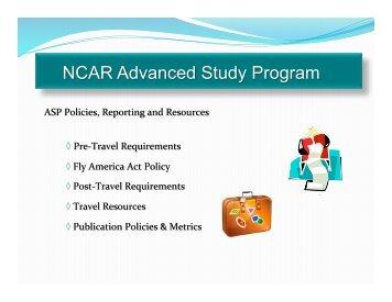 Travel procedures and ASP metrics