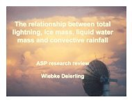 The relationship between total lightning, ice mass, liquid water mass ...