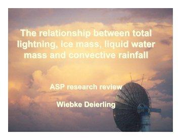 The relationship between total lightning, ice mass, liquid water mass ...