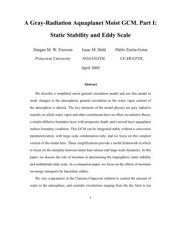 Static Stability and Eddy Scale