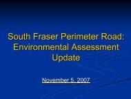 South Fraser Perimeter Road Environmental Assessment Update