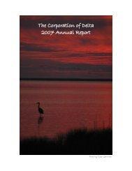 Corporation of Delta 2007 Annual Report - The Corporation of Delta