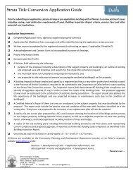 Strata Title Conversion Application Guide - The Corporation of Delta