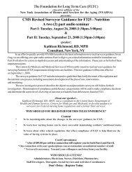 CMS Revised Surveyor Guidance for F325 - LeadingAgeNY - Home