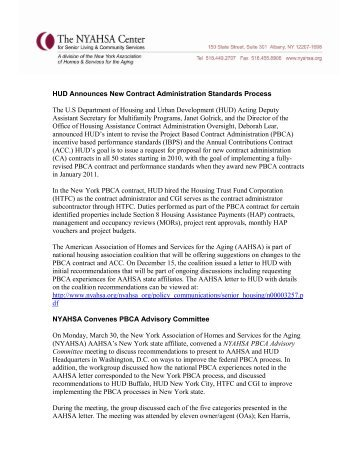 HUD Announces New Contract Administration Standards Process ...