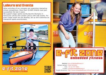 Leisure and Events - Embedded fitness