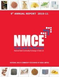 9 ANNUAL REPORT 2010-11 - Nmce.com