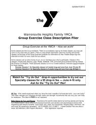 Warrensville Heights Family YMCA Group Exercise Class ...