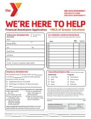 Financial Assistance Application - the YMCA of Greater Cleveland