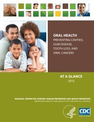 Oral health - Centers for Disease Control and Prevention