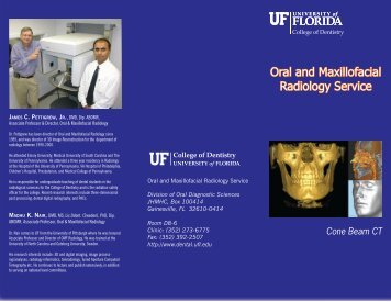 Oral and Maxillofacial Radiology Service - College of Dentistry