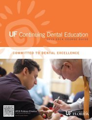 Download a Catalog - College of Dentistry - University of Florida