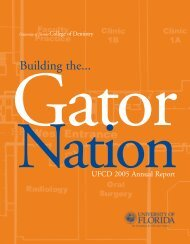 Building the... - College of Dentistry - University of Florida