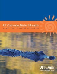 UF Continuing Dental Education - College of Dentistry - University of ...