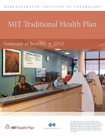 2012 MIT Traditional Health Plan – Brochure - MIT Medical