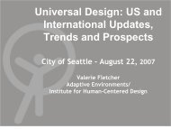 Universal Design - Aging and Disability Services