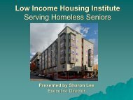 Low Income Housing Institute Serving Homeless Seniors - Aging and ...