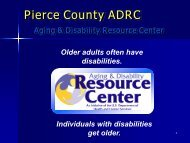 ADRC - Aging and Disability Services