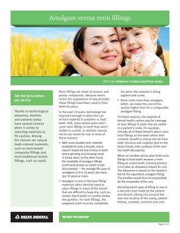 Amalgam versus resin fillings - Delta Dental Insurance
