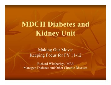 Michigan Diabetes Prevention and Control Program Update